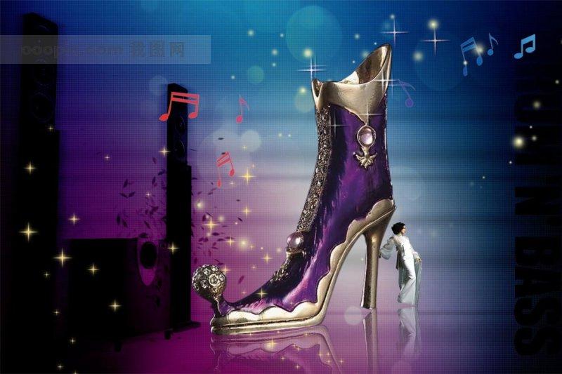 凉鞋广告背景图