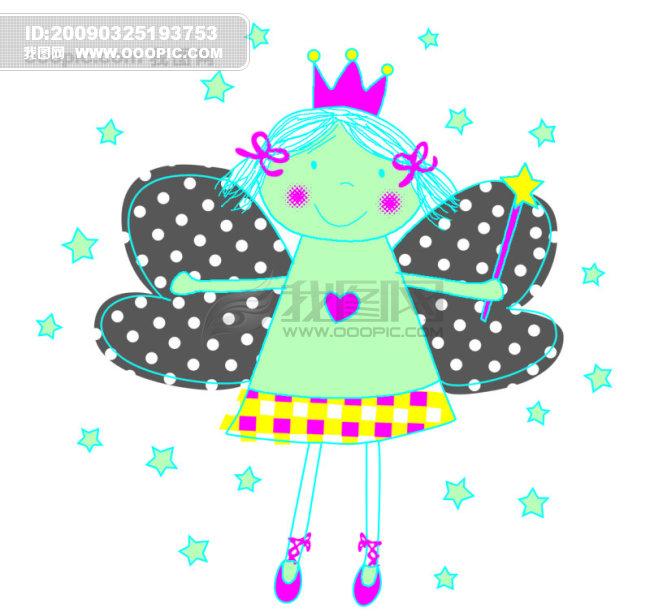 卡通 天使 女孩_卡通边框|卡通图片