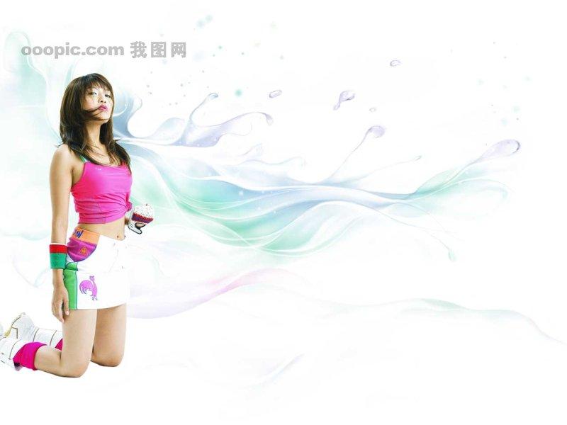 海报 海报素材 海报模板 美女 运动美女 韩国最