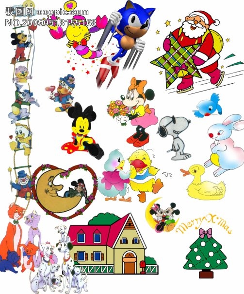 卡通小动物_卡通动漫|卡通人物|卡通美女_psd素材|psd