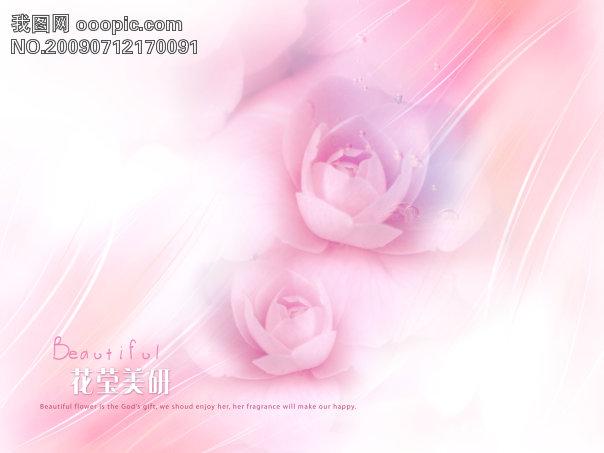 漂亮玫瑰婚纱摄影背景psd分层