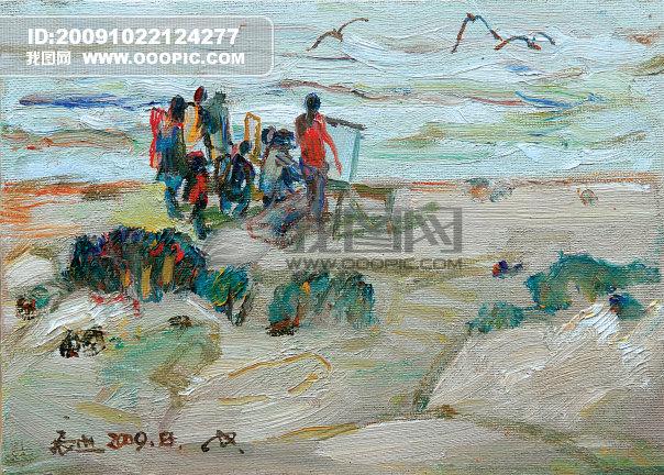 画家 美术 艺术 艺术文化 中国油画 海南油画风景 海南风景 颜色 色彩