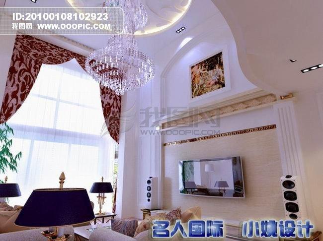 欧式奢华风格客厅室内设计效果图