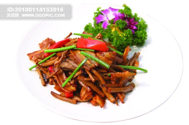 茶树菇煸香肉青图片素材(图片编号:833959)